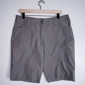 Dalia Collection Khaki Green Bermuda Shorts
